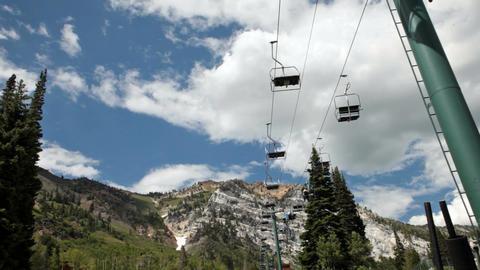 Summer resort chair lift P HD 0794 Footage