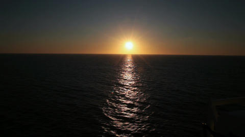 Sunset over ocean P HD 4324 Footage