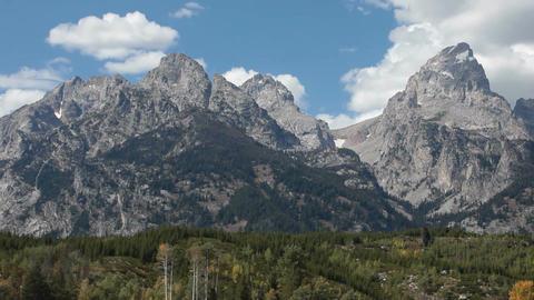 Teton Mountains pan P HD 3285 Live Action