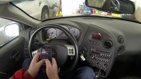 Texting while in a car HD 172 Footage