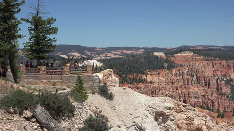 Tourism overlook Bryce Canyon National Park Utah 4K Footage