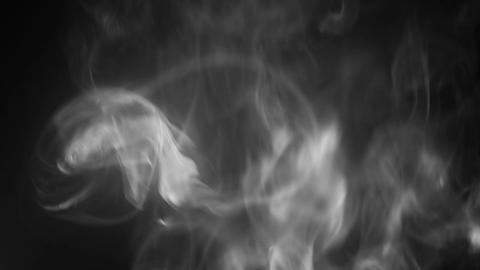 High density smoke flows seamless loop Footage