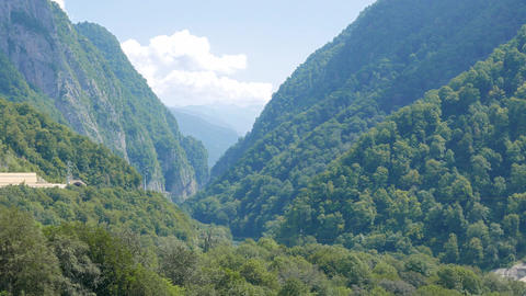 The gorge on the river Mzymta, Sochi, Russia Footage