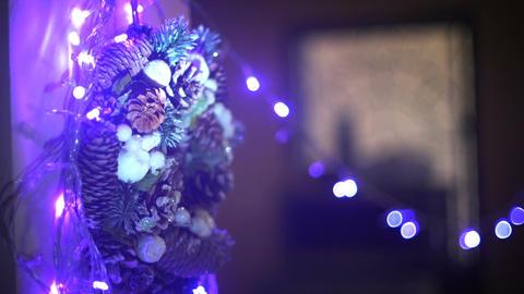 Christmas lightbulbs decoration rack focus Footage