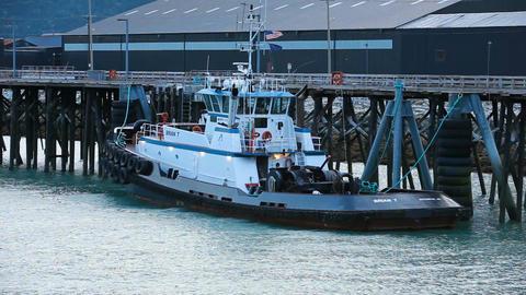 Tug Boat Skagway Alaska marina P HD 0017 Footage