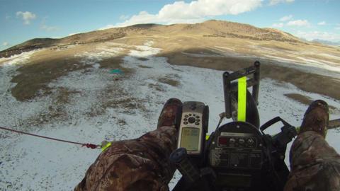 Ultralight crash in rough turbulence P HD 01 Footage