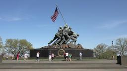 United States Marine Corps War Memorial Washington DC 4K Footage