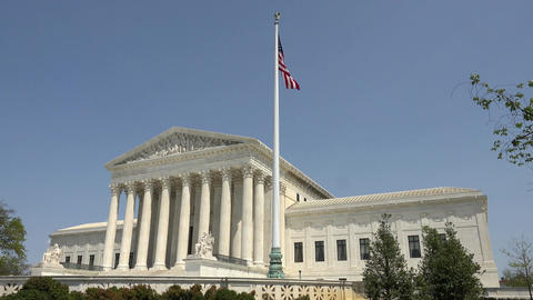 United States Supreme Court building flag Washington DC 4K 037 Footage