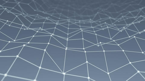 Wireframe network shape vibrate loop background Animation