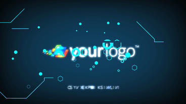 Digital Glitch Logo Reveal - After Effects Template After Effects Template