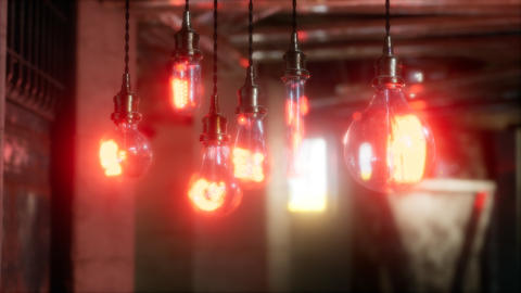 old retro vintage incandescent light bulb ライブ動画