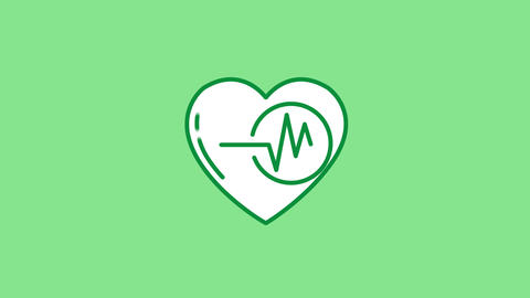 Heart Rate line icon on the Alpha Channel ライブ動画