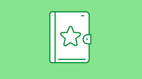 Notebook line icon on the Alpha Channel CG動画
