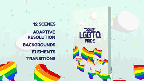 LGBTQ Pride Toolkit After Effects Template