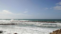 Waves over wavebreaker, real time Live Action