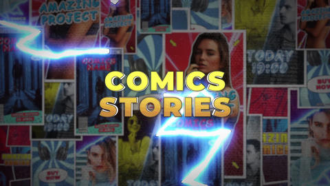 Comics Instagram Stories After Effects Template