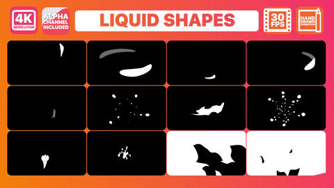 Liquid Shapes And Titles Plantillas de Motion Graphics