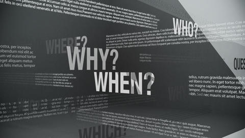 Question Words Background Animation Seamless Loop Animation