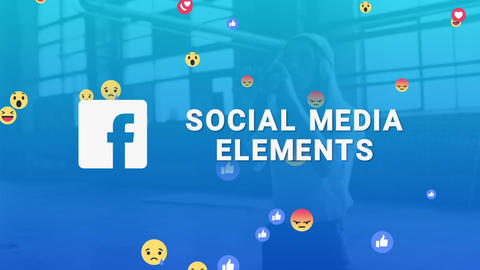 Facebook Social Media Elements Motion Graphics Template