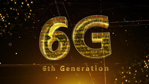 6G Digital Network technology 6th generation mobile communication concept background 3 F1 red 4k Animation