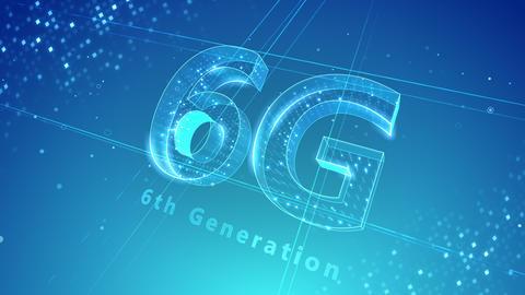 6G Digital Network technology 6th generation mobile communication concept background 3 N2 blue 4k Animation
