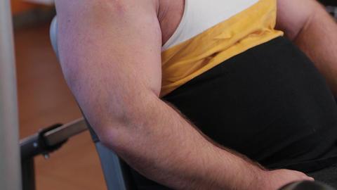 The big arm of a big bodybuilder Live Action