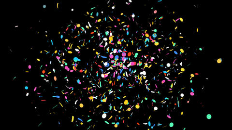4K Confetti / with Alpha Matte Channel. Can be used with any kind of Celebration events and Give Animation