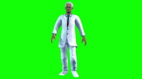 742 4k 3d animated AVATAR doctor hurries up to own patience Animation