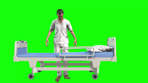 740 4k 3d animated two avatars nurse and heard problem patience Animation