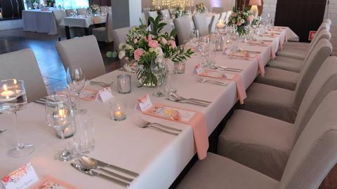 Wedding preparations. Wedding table Live Action