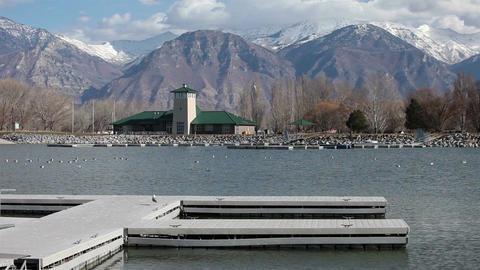 Utah State Park Provo boat dock visitor center HD 0786 Live Action