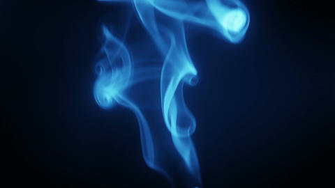Blue smoke flows seamless loop Footage