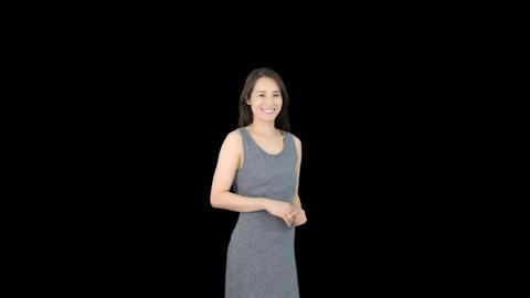 日本人 女性 笑顔 GIF