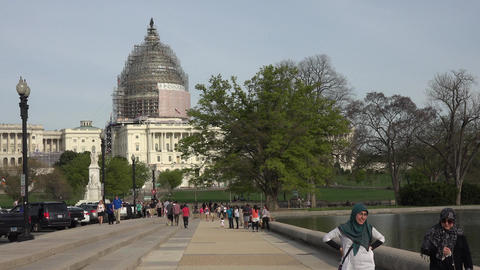 Washington DC Capital Building tourists cultural 4K Footage