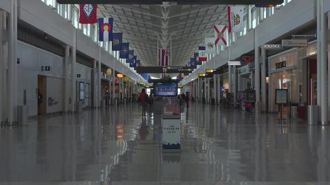 Washington DC Dulles International Airport gate passengers fast 4K 017 Footage