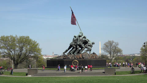 Washington DC Iwo Jima Memorial Marine Corp 4K 029 Footage