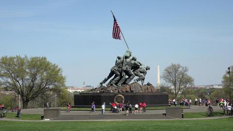 Washington DC Iwo Jima Memorial Marine Corp 4K 029 GIF