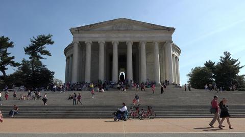 Washington DC Jefferson Monument tourism 4K 059 Footage