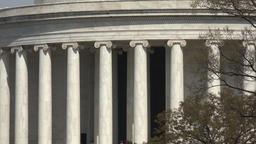 Washington DC Jefferson Monument zoom out 4K 047 Footage