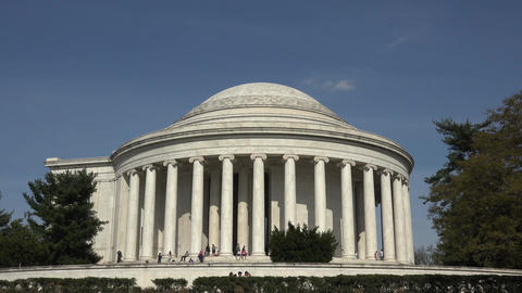 Washington DC Jefferson Monument tourism side steps 4K 067 Footage