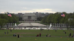Washington DC Lincoln Memorial World War II memorial sports 4K 053 Footage