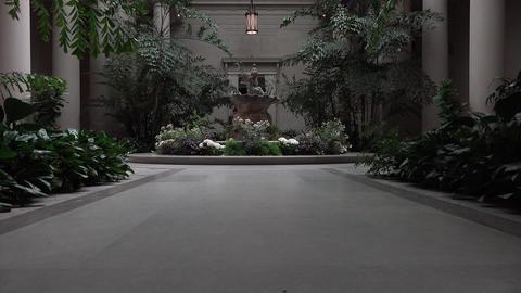Washington DC National Gallery of Art education atrium garden 4K Footage