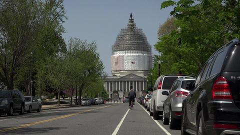 Washington DC Nations Capitol Building traffic 4K 022 Footage