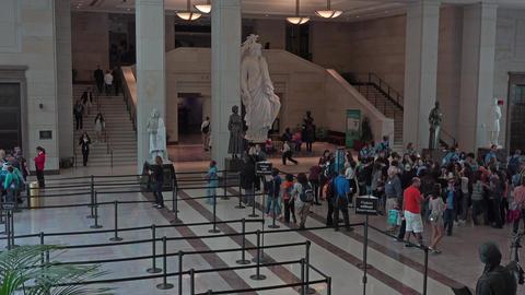 Washington DC US Capitol building visitor center tour area 4K 026 Footage