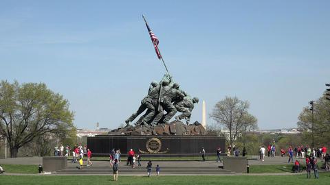 Washington DC United States Marine Corps War Memorial Iwo Jima 4K 030 Footage