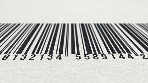 Animation of barcode on paper texture Animation