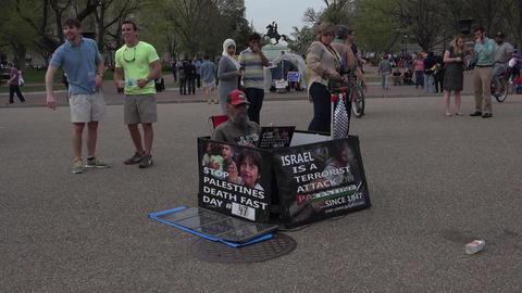Washington DC White House demonstrator Palestine 4K Live Action