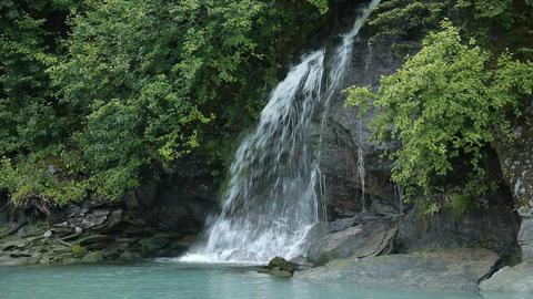 Waterfall Alaska Valdez P HD 8641 Footage