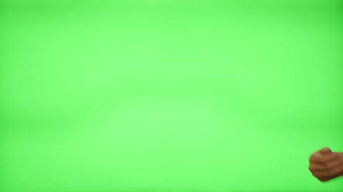 Female hand gestures on green screen: clapping, thumbs up, pointing, countdown t Footage
