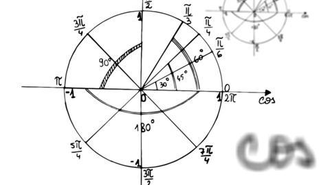 4k - Maths trigonometry equation loop with alpha matte Animation